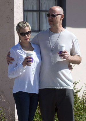 Brooke Burns and Gavin O'Connor out for coffee in Los Angeles