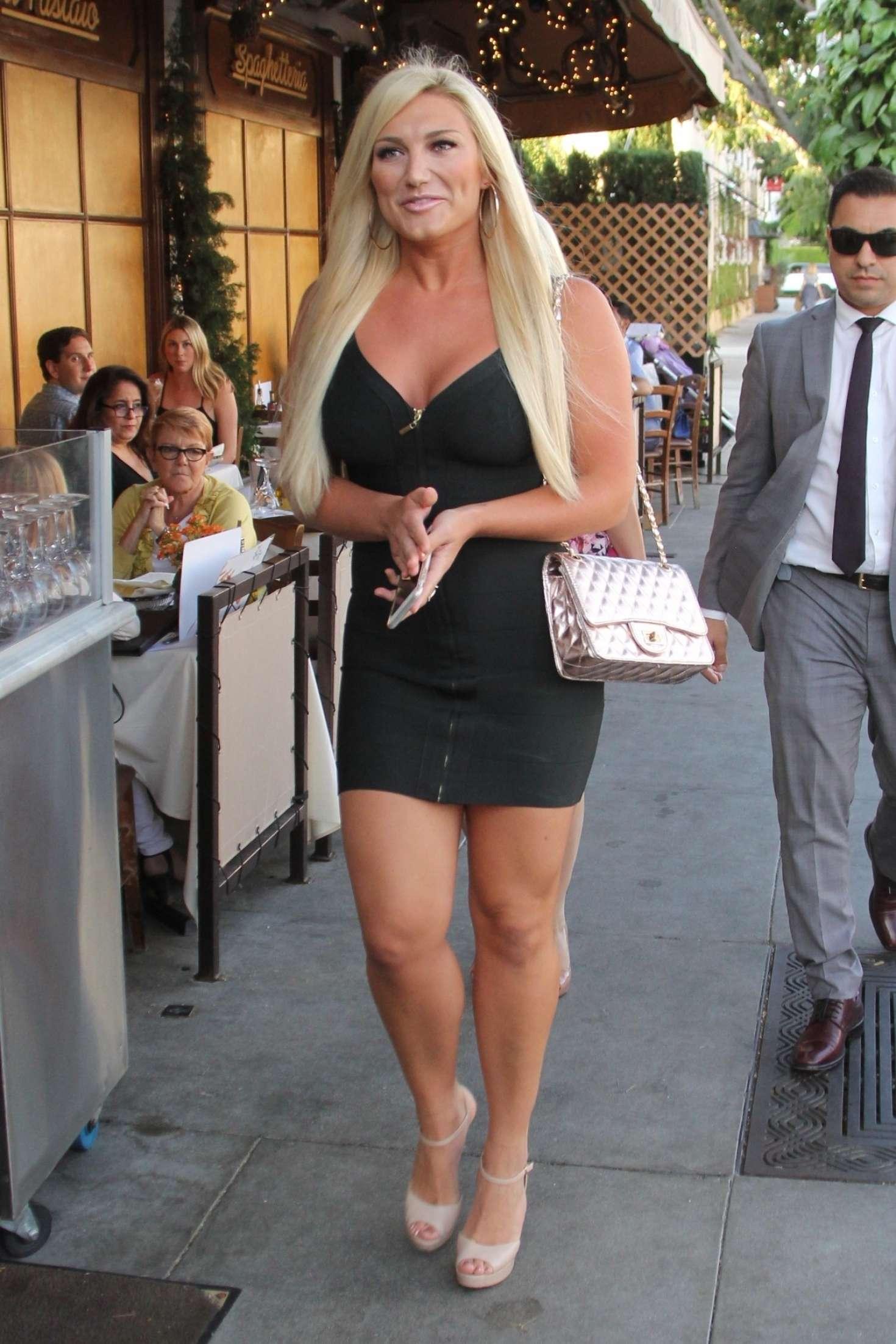 Brooke Hogan in Black Mini Dress -13 | GotCeleb