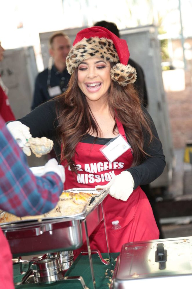 Brooke Lewis - Los Angeles Mission Serves Christmas to the Homeless in LA