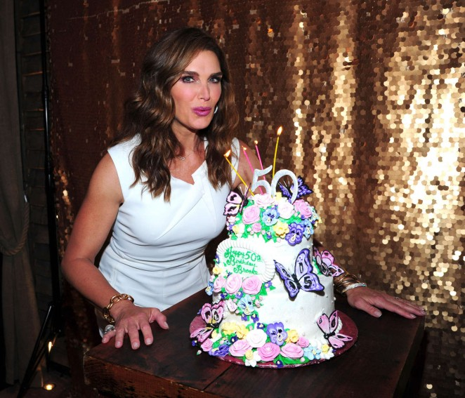 Brooke Shields: Celebrates Her 50th Birthday -02