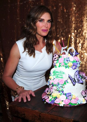 Brooke Shields - Celebrates Her 50th Birthday in NY