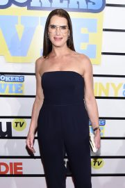 Brooke Shields - In Black Strapless Jumpsuit at 'Impractical Jokers: The Movie' New York