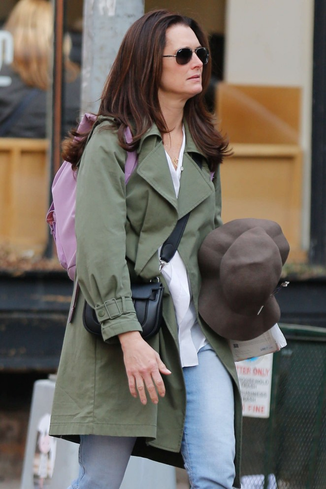 Brooke Shields in Jeans out and about in NY