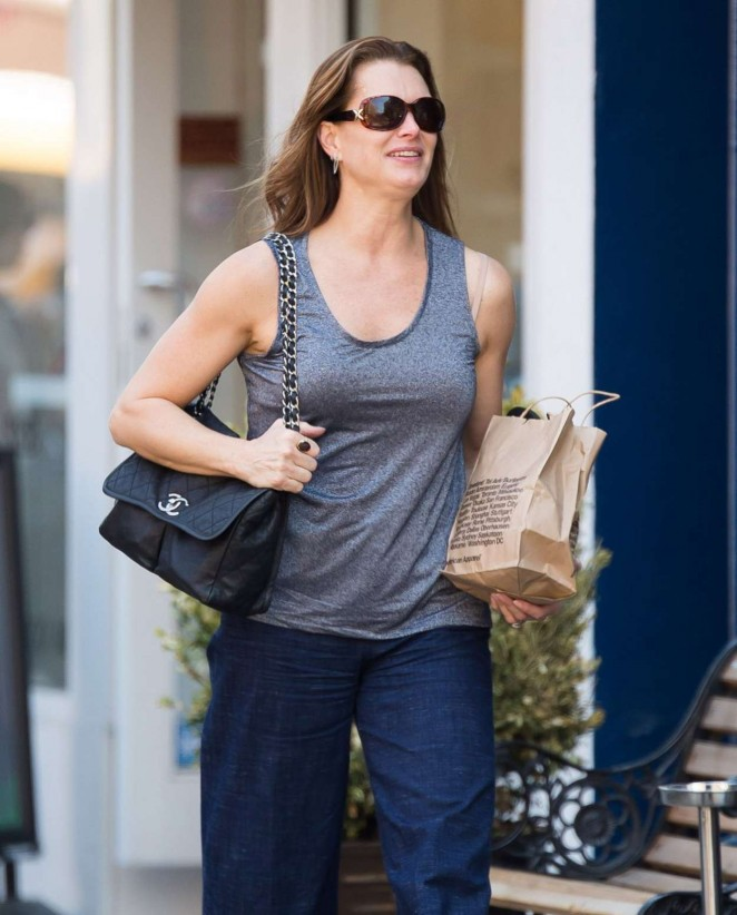 Brooke Shields - Out and about in New York