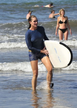 Brooke Shields - Surfing in Costa Rica