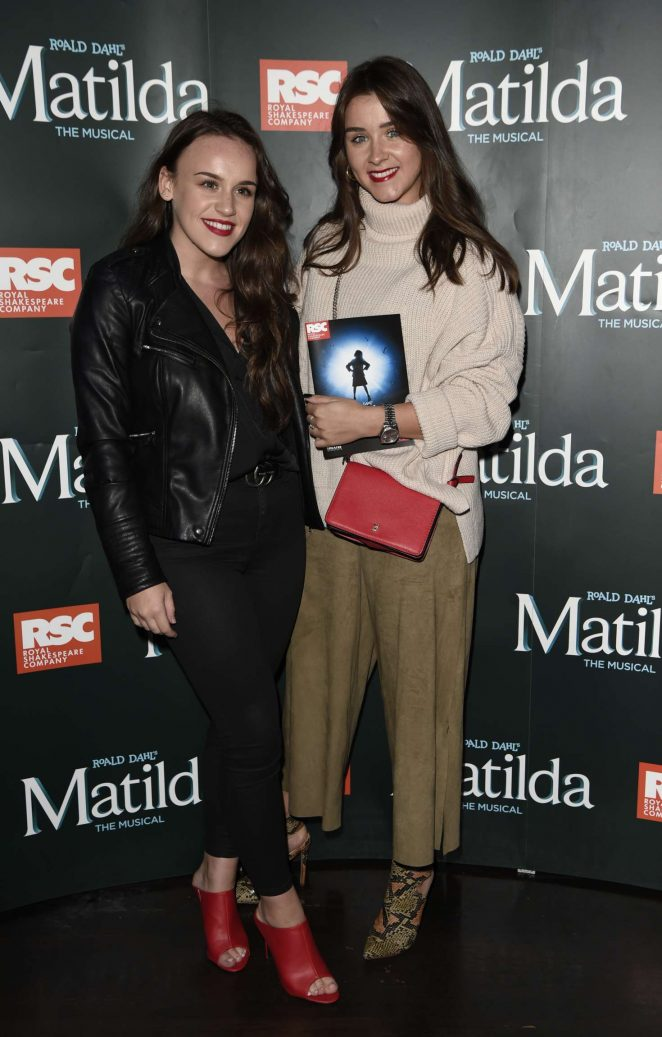 Brooke Vincent and Ellie Leech – Press night for Matilda in Manchester
