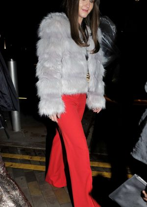 Brooke Vincent - Arriving at Menagerie bar in Salford