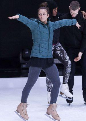 Brooke Vincent - Dancing On Ice Practice in Hertfordshire