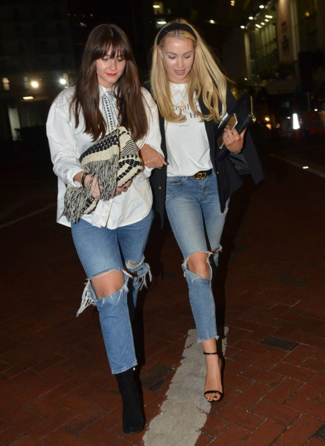 Brooke Vincent in Ripped Jeans at Lowry Hotel in Manchester