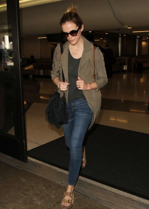 Brooklyn Decker - Arrives at LAX in Los Angele