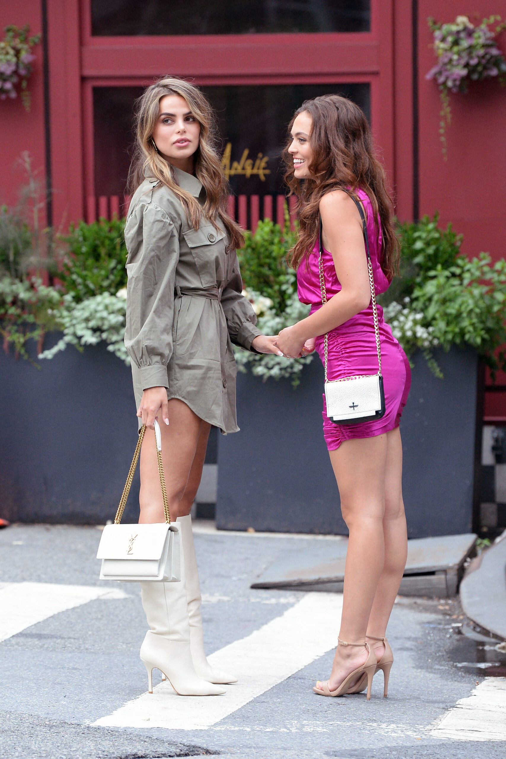 Brooks and Grace Ann Nader - Seen whilr out for diner in West Village - New York