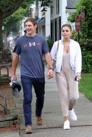 Brooks Nader and her husband William - Out in the Hamptons New York
