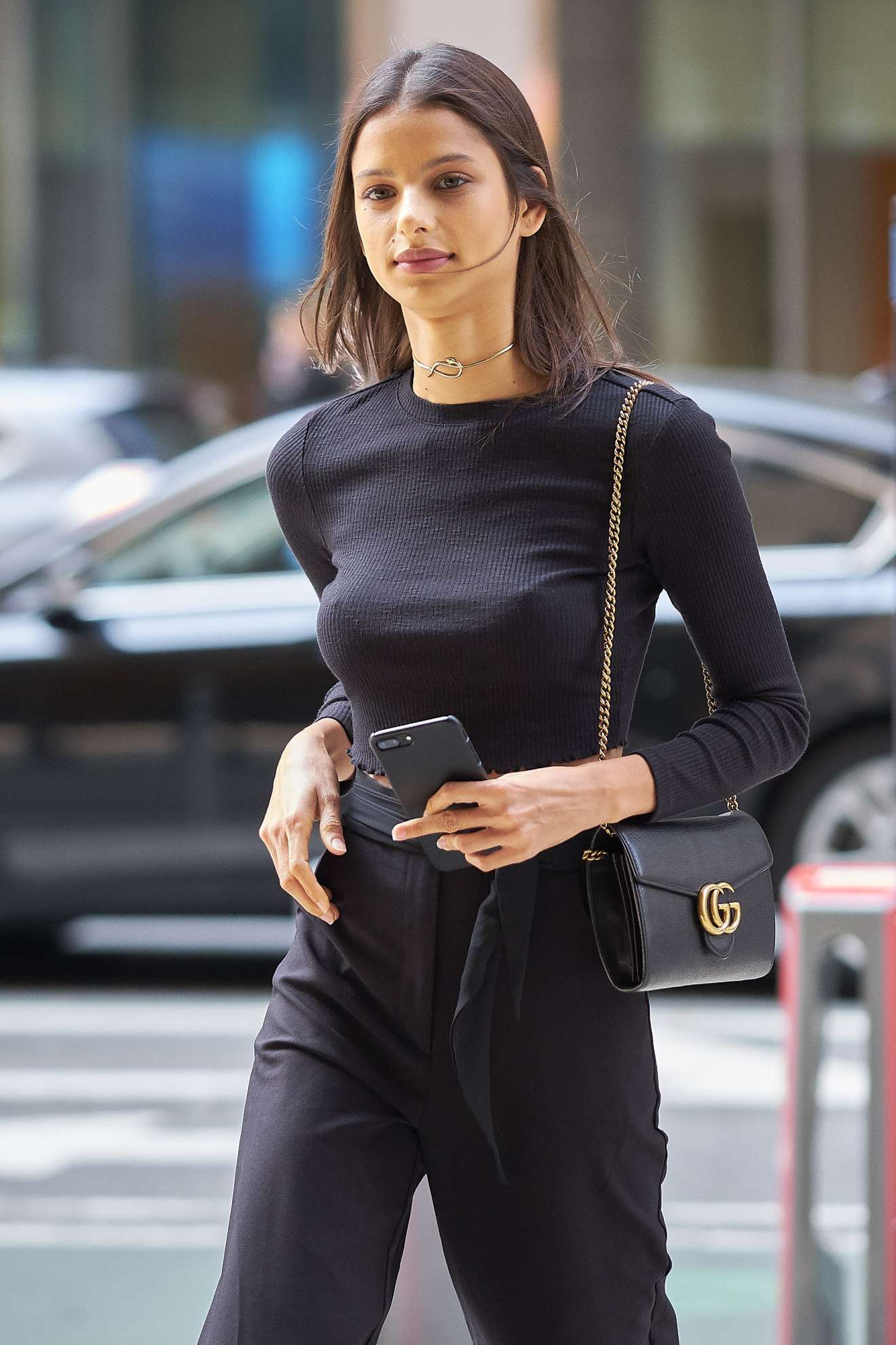 Bruna Lirio: Arrriving at Victorias Secret Fitting -10