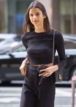 Bruna Lirio - Arrriving at Victorias Secret Fitting
