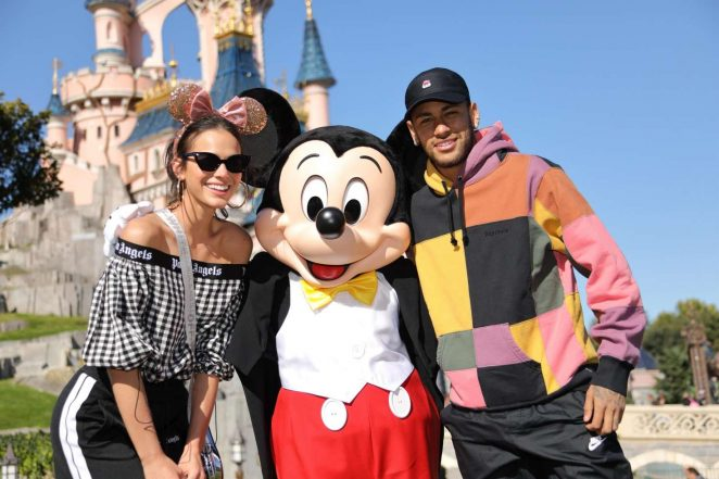 Bruna Marquezine and Neymar at Disneyland in Paris