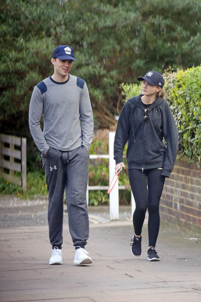 Bryana Holly and Nicholas Hoult at the park in London