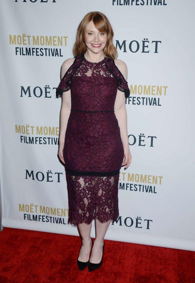 Bryce Dallas Howard: 2018 Moet Moment Film Festival -01
