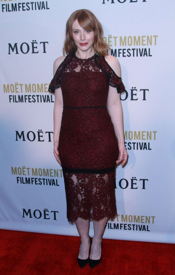 Bryce Dallas Howard: 2018 Moet Moment Film Festival -10
