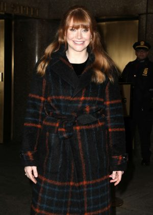 Bryce Dallas Howard - Arrives at the Today show in New York City