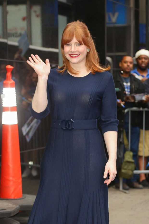 Bryce Dallas Howard - Arriving at Good Morning America in NYC