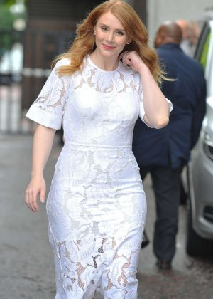 Bryce Dallas Howard at ITV Studios in London