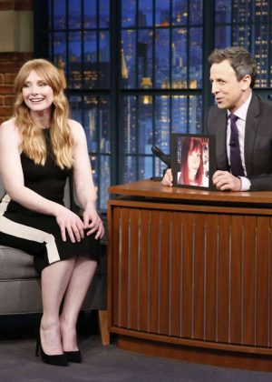 Bryce Dallas Howard - 'Late Night With Seth Myers' in New York