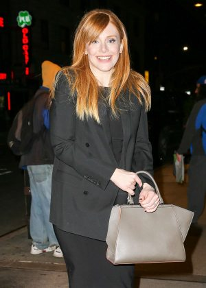 Bryce Dallas Howard - Leaves 'The Tonight Show' in New York