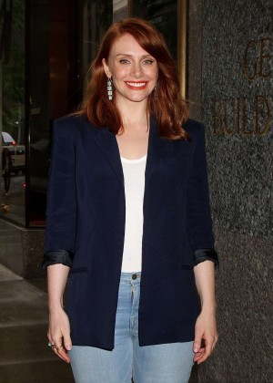 Bryce Dallas Howard - Leaving NBC Studios in NYC