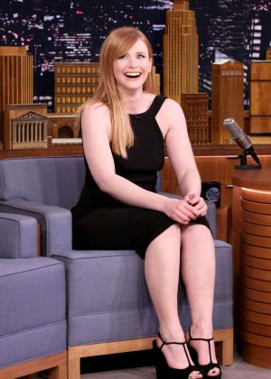 Bryce Dallas Howard on 'The Tonight Show Starring Jimmy Fallon' in NY