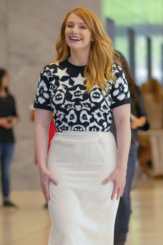 Bryce Dallas Howard - Promoting her new film 'Pete's Dragon' in NYC