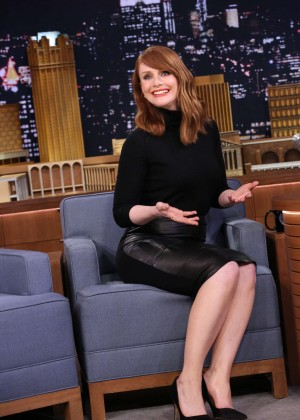 Bryce Dallas Howard - 'The Tonight Show Starring Jimmy Fallon' in NYC