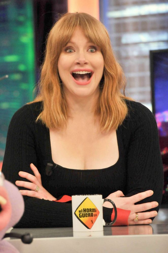 Bryce Dallas Howard - Visits the TV Show El Hormiguero in Madrid