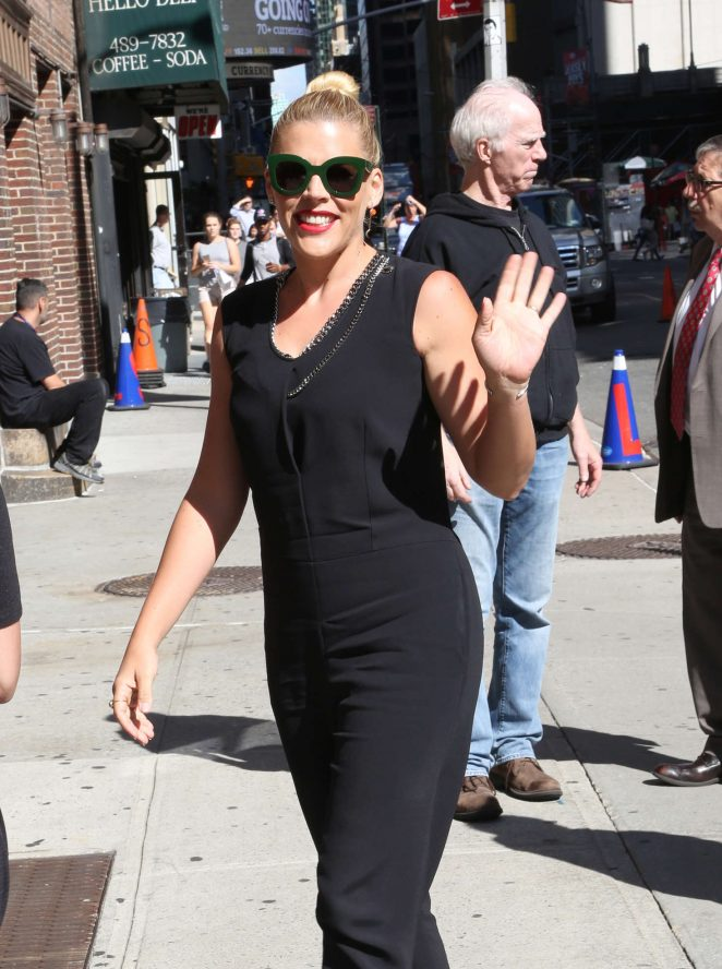 Busy Philipps at Ed Sullivan Theater in New York City