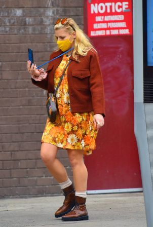 Busy Philipps - In a floral dress out in Manhattan