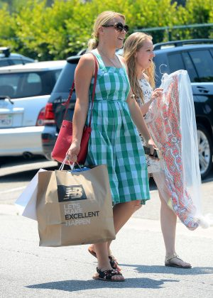 Busy Philipps in Blue Dress -02