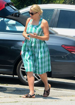 Busy Philipps in Blue Dress -04