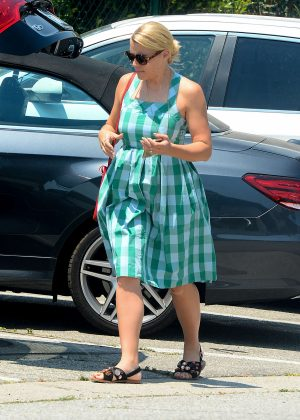 Busy Philipps in Blue Dress -05