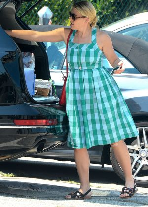 Busy Philipps in Blue Dress -06