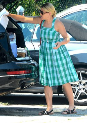 Busy Philipps in Blue Dress -09