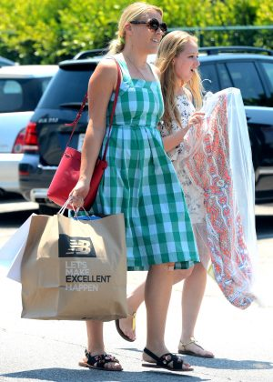Busy Philipps in Blue Dress -12