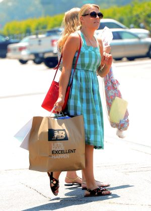 Busy Philipps in Blue Dress -15