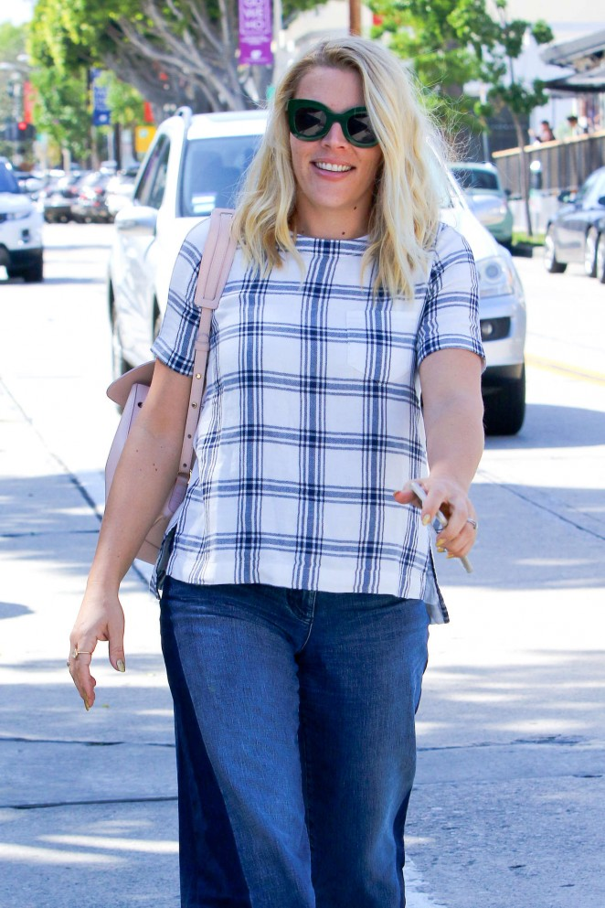 Busy Philipps in Jeans at Gracias Madre in West Hollywood