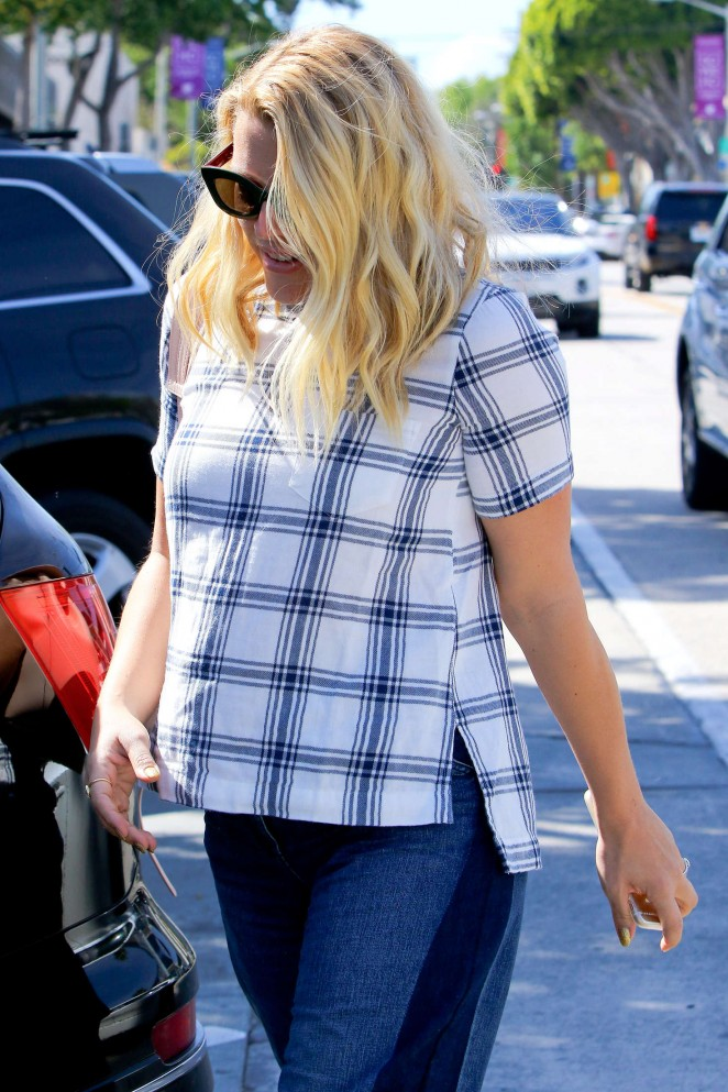 Busy Philipps in Jeans at Gracias Madre -07