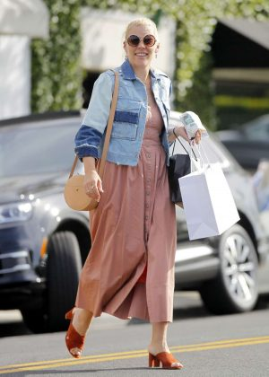 Busy Philipps in Long Dress Shopping in Beverly Hills