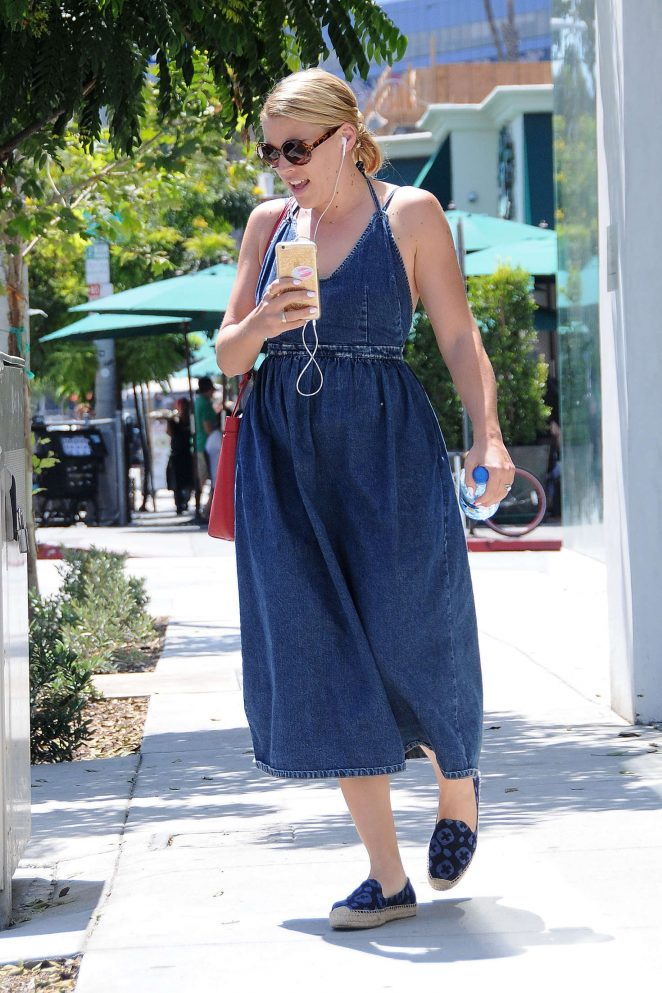 Busy Philipps in Long Jeans Dress -11