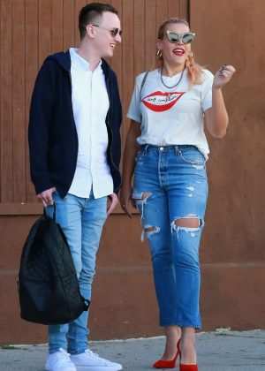 Busy Philipps in Ripped Jeans in LA