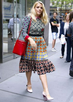 Busy Philipps - Leaving Sirius Radio Building in New York