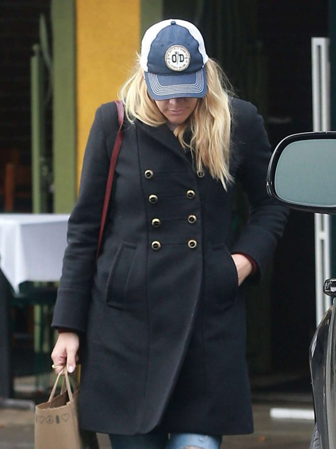 Busy Philipps on a rainy day in Los Angeles
