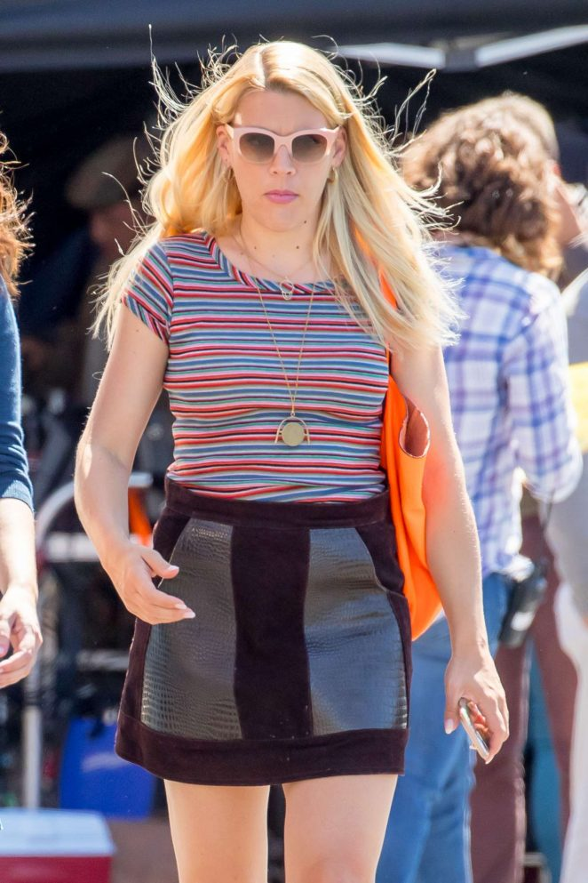 Busy Philipps on set of 'The Sackett Sisters' in LA