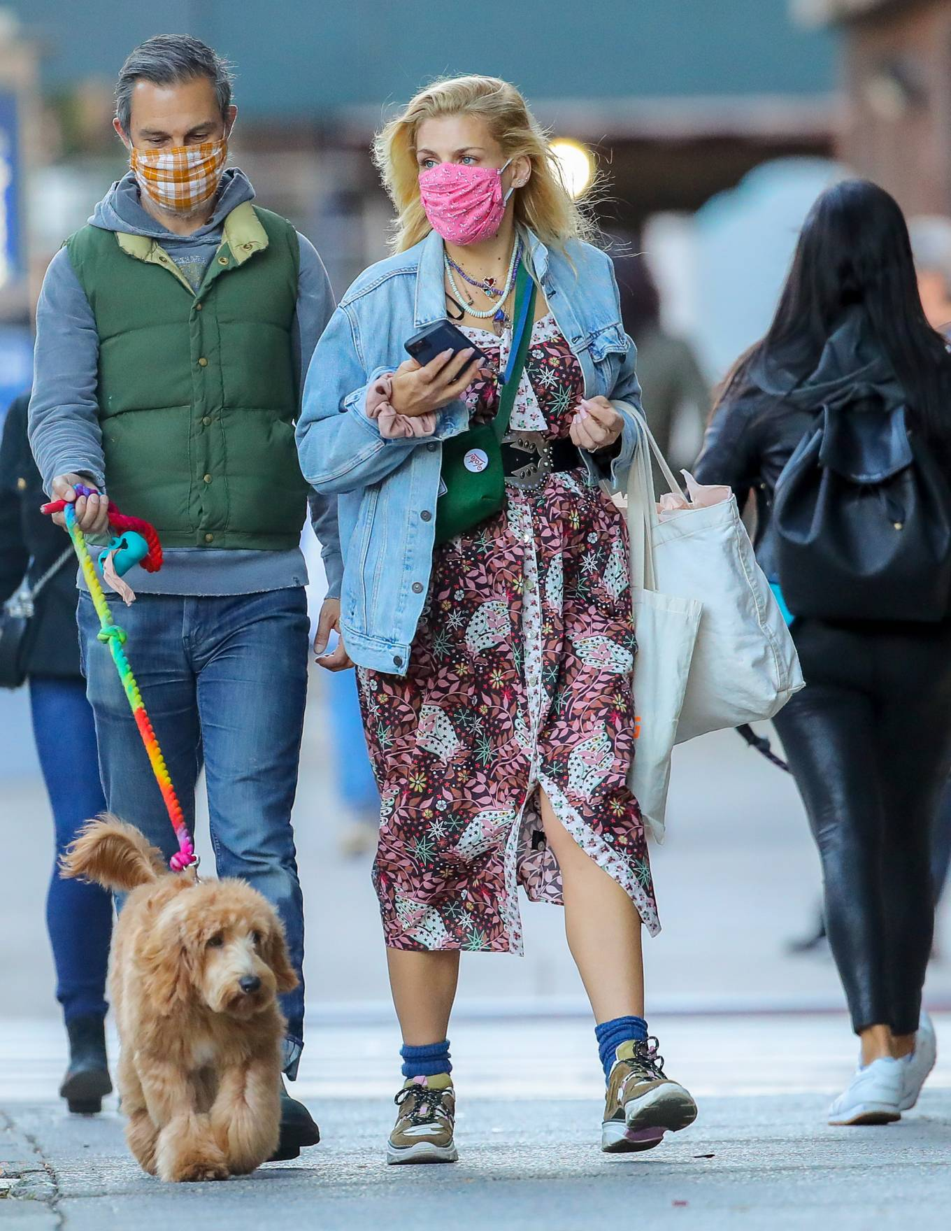 Busy Philipps out with her husband Marc Silverstein in New York City
